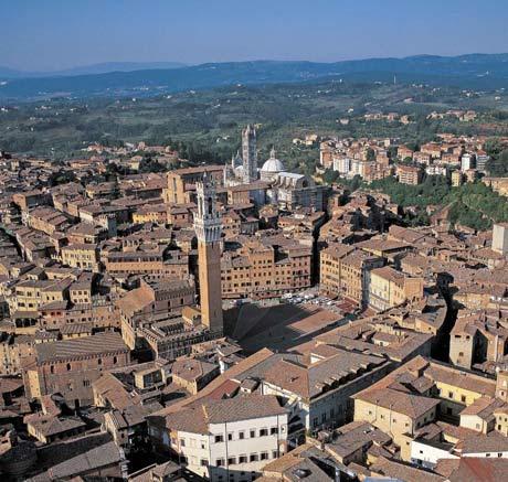 Siena - veduta aerea - Toscana